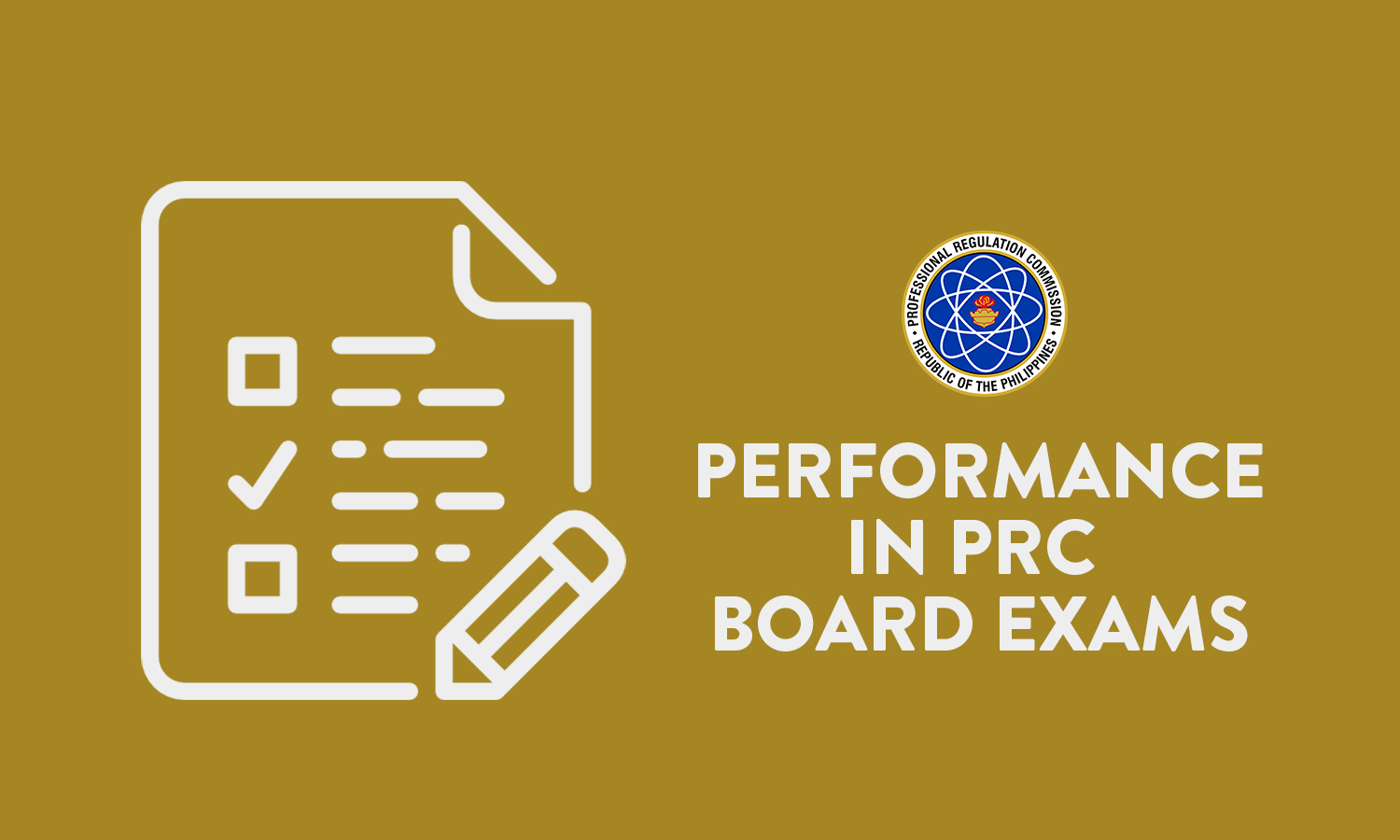 Performance in PRC Board Exams