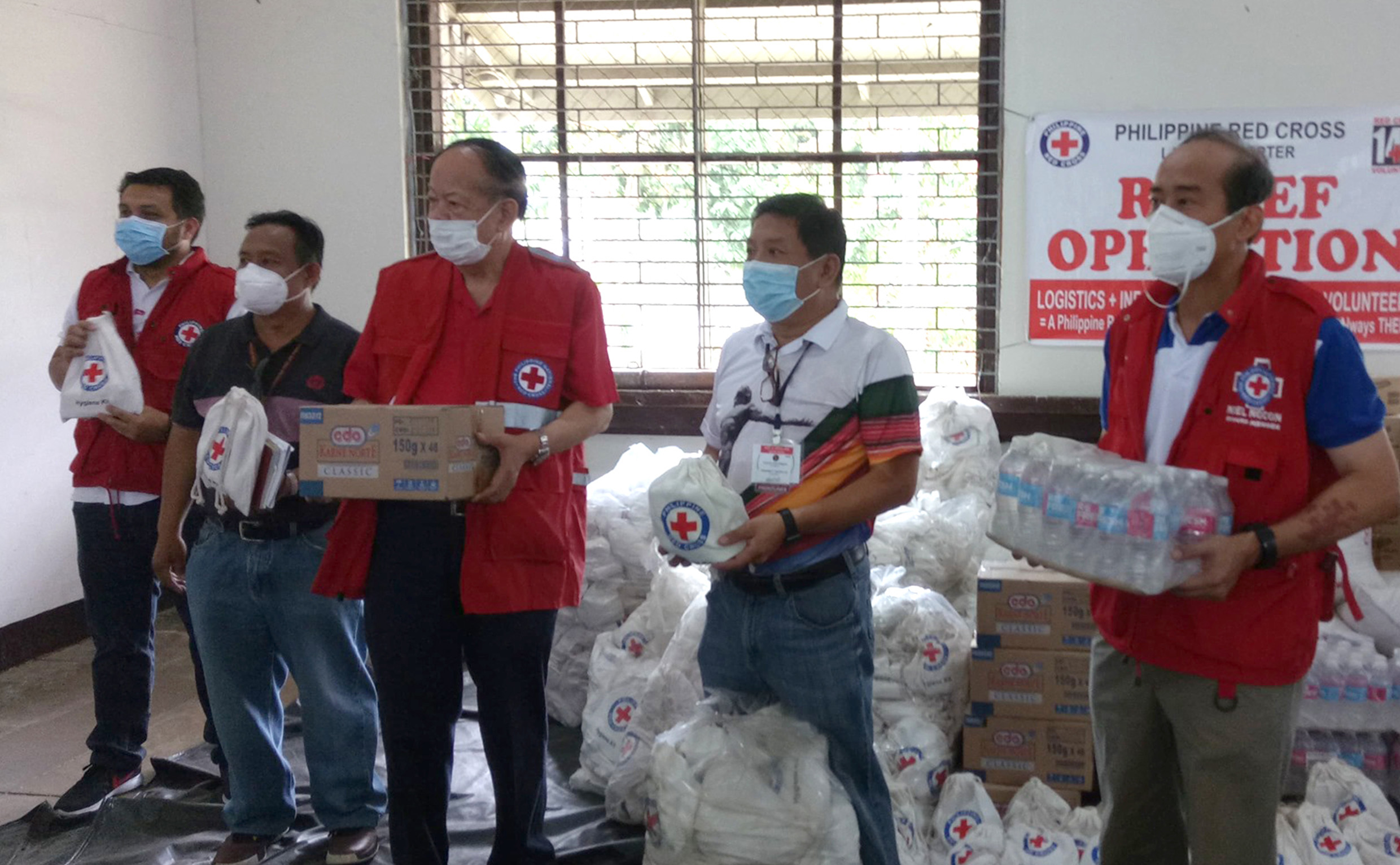 Philippine Red Cross comes to the aid of stranded UPLB students