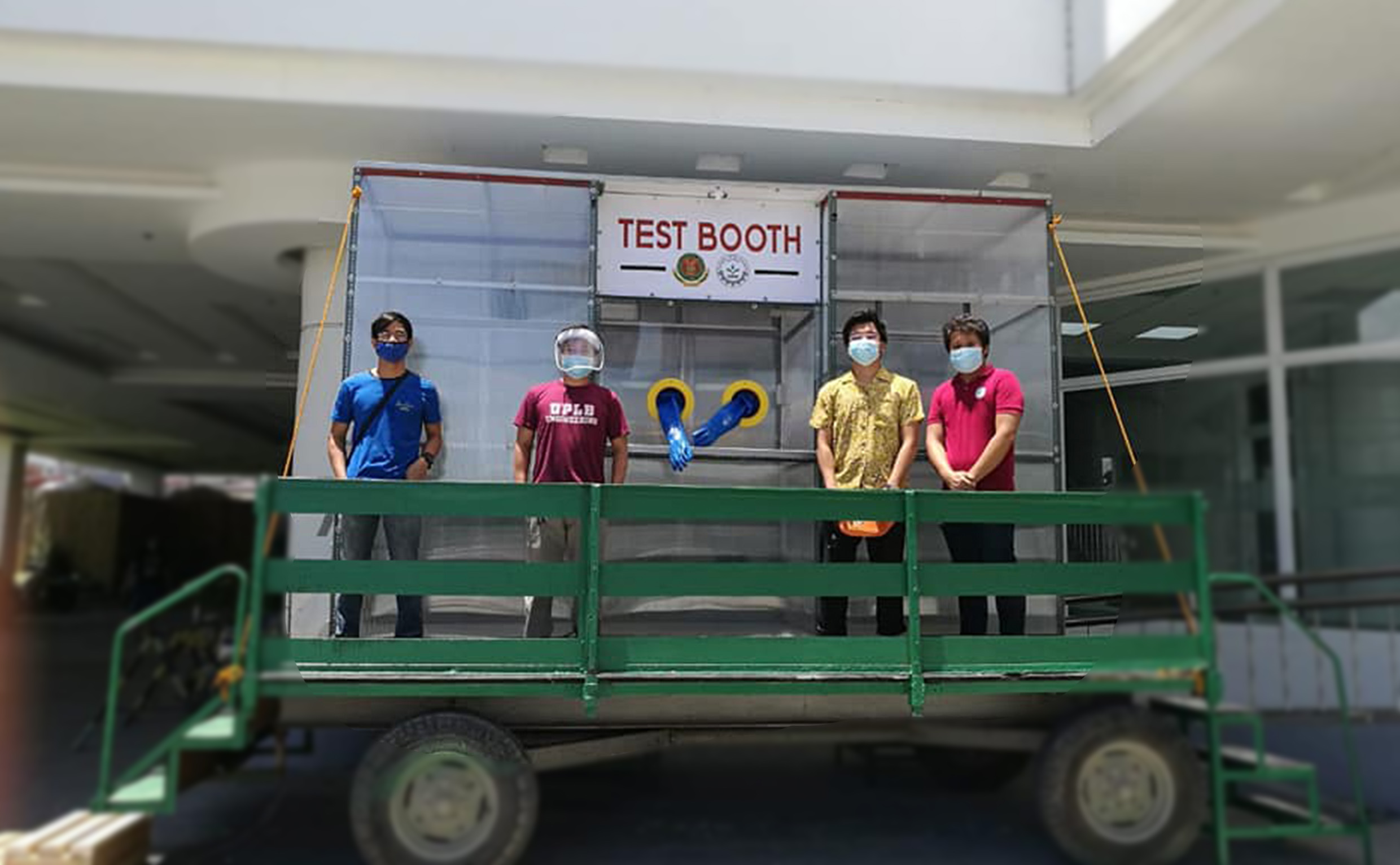 UPLB makes upgraded COVID-19 swabbing booth