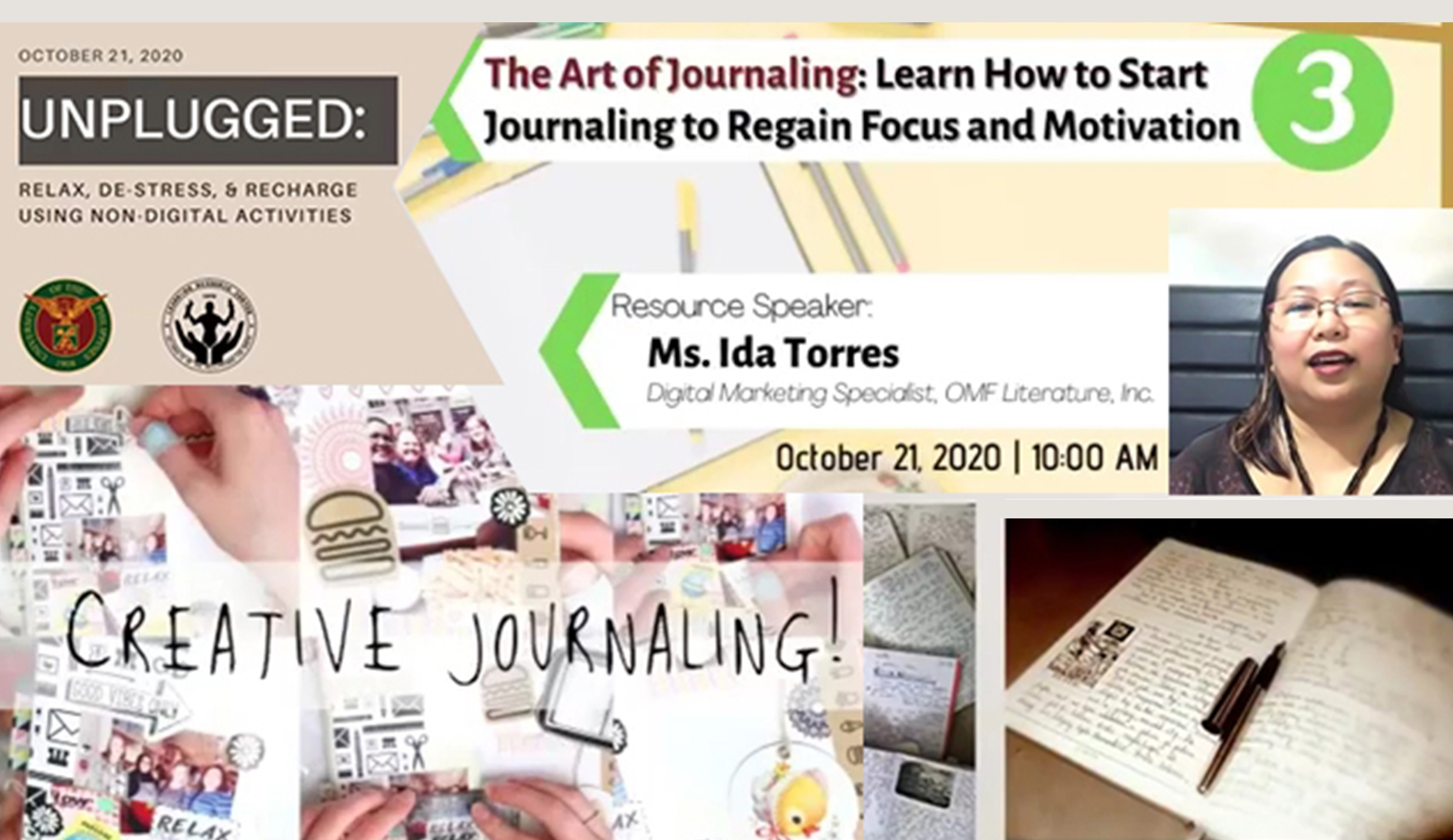 LRC webinar puts forward journaling as a stress-reliever