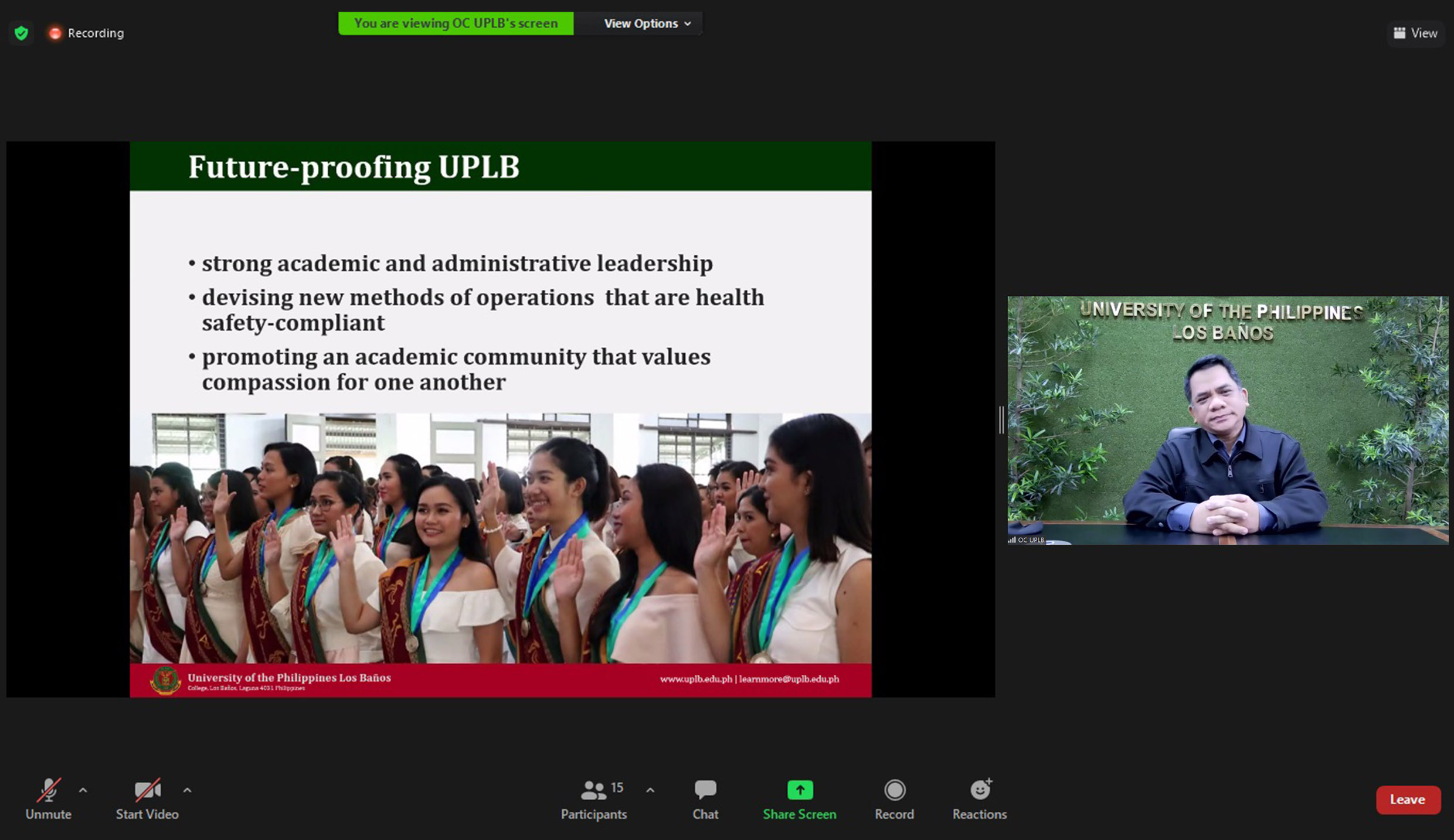 CJCJ speaks on future-proofing UPLB to association of managers