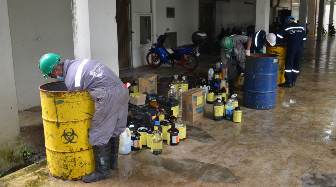 OVCCA initiates UPLB's chemical waste collection
