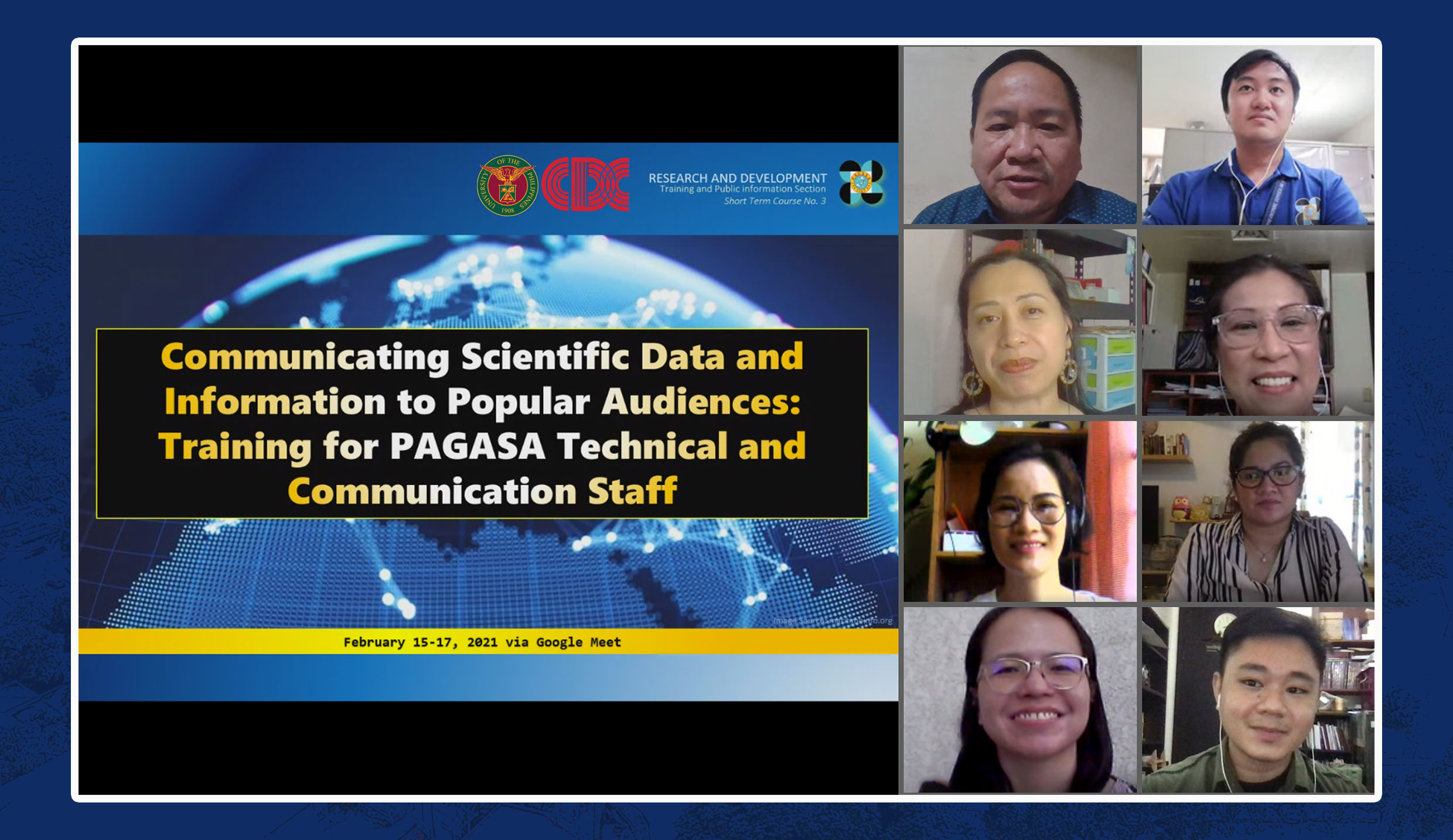 Devcom faculty train PAGASA technical staff on science journalism