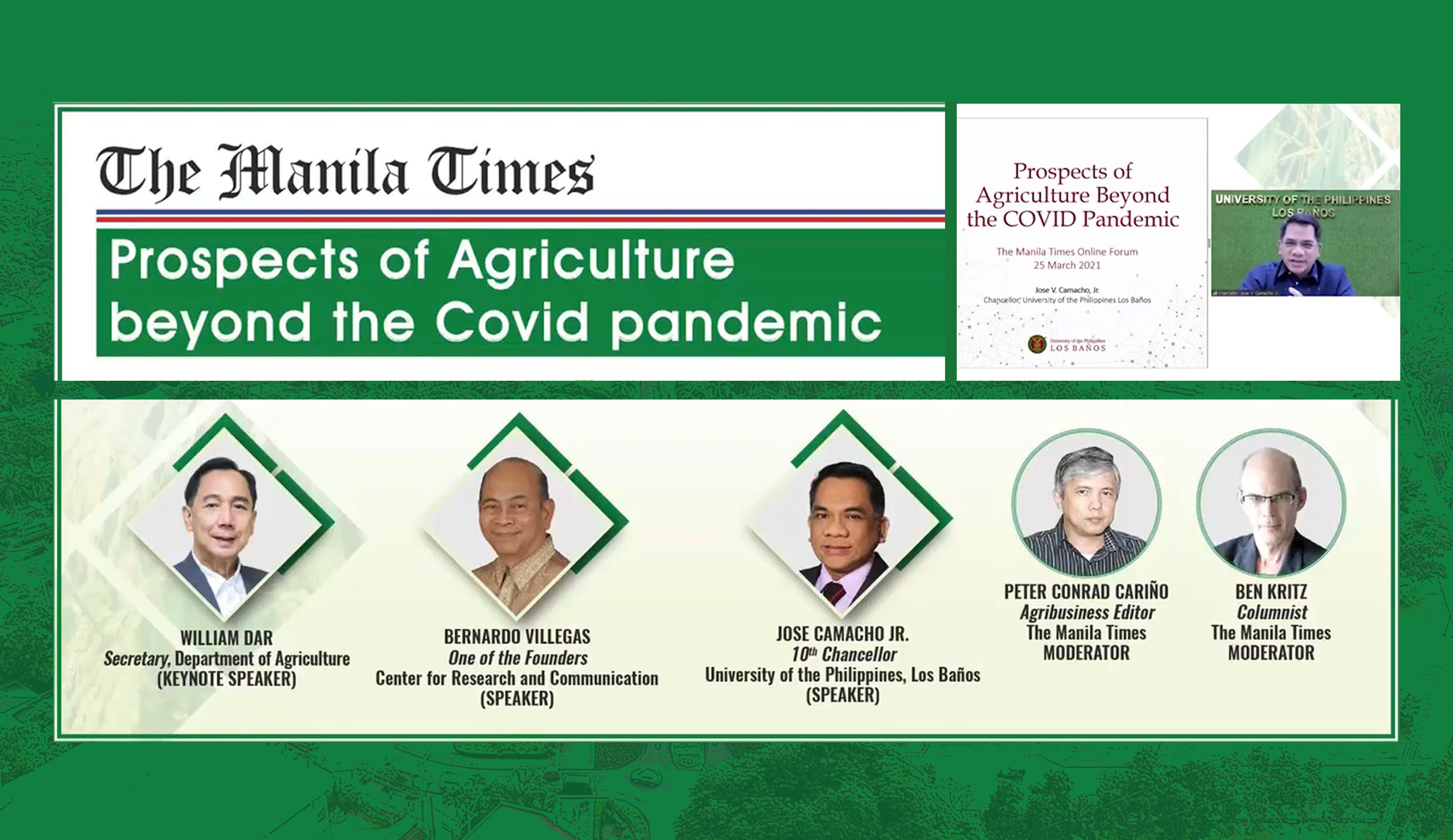 Chancellor Camacho outlines ways to future-proof Phil agri