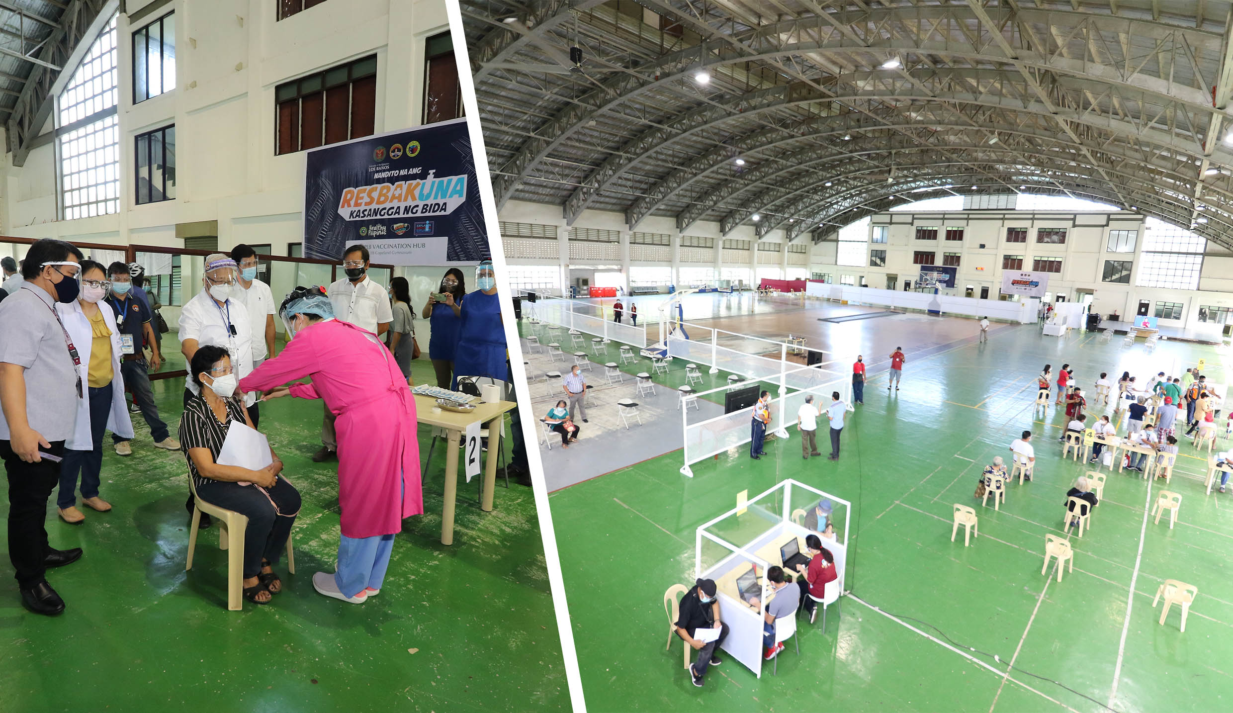 UPLB hosts LB COVID-19 vaccination venue