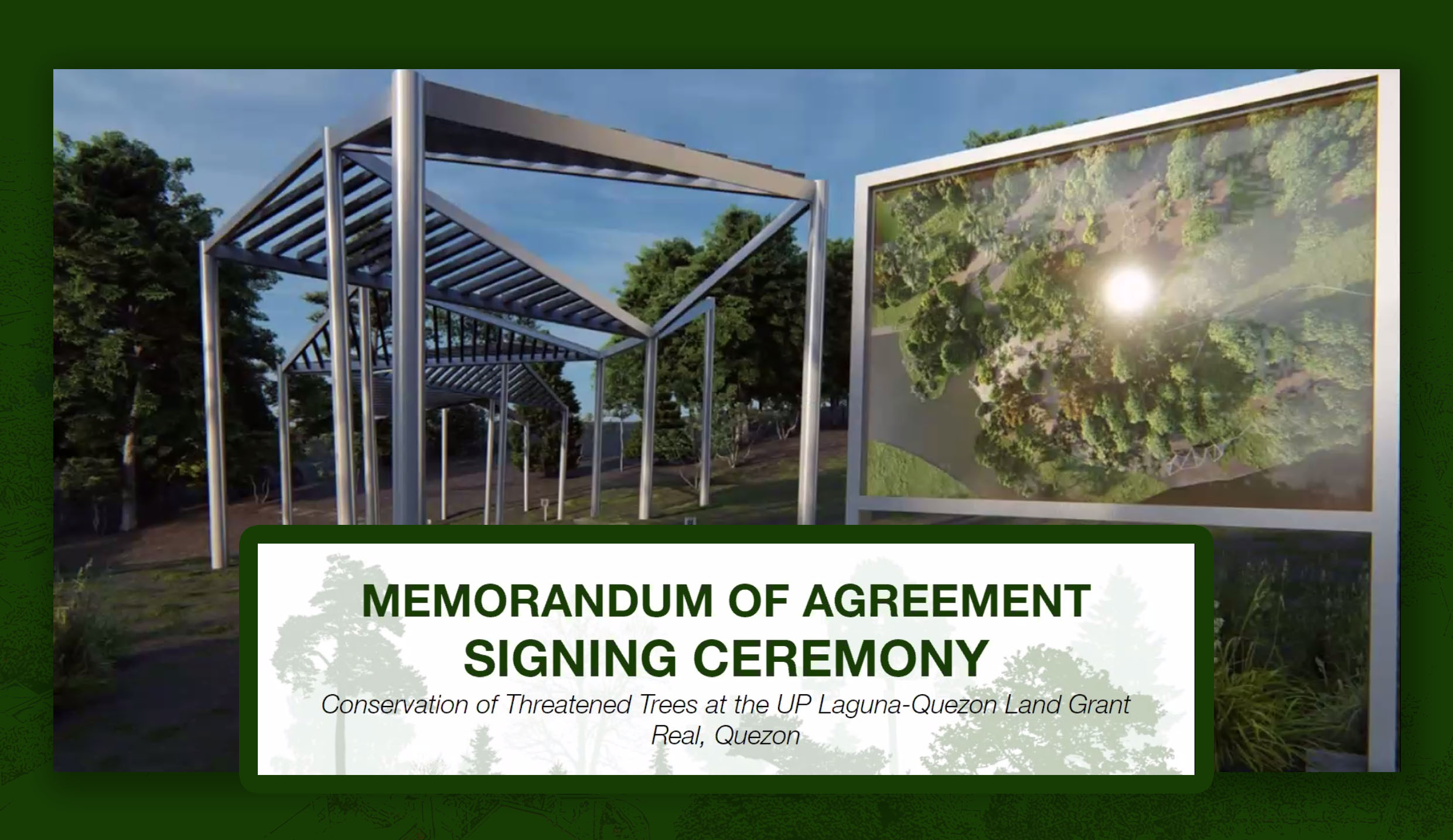 UPLB signs collab for forest conservation project