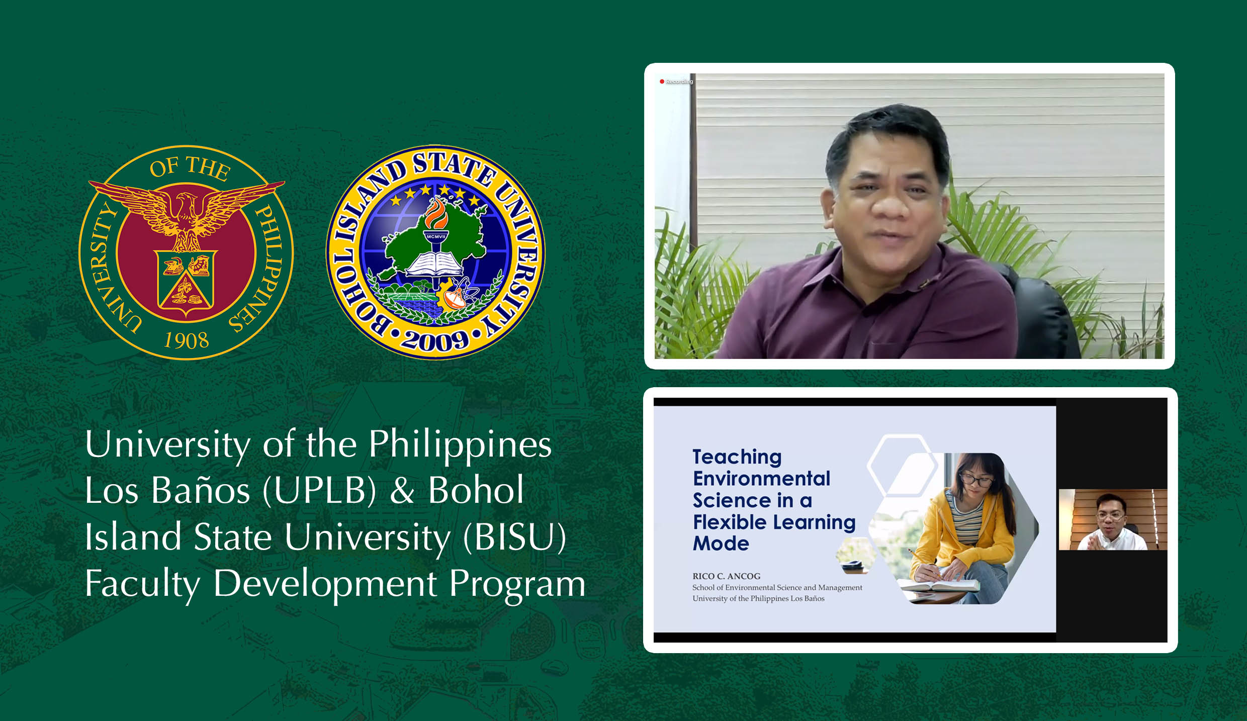 UPLB shares with Bohol Island State University its knowledge on flexible learning