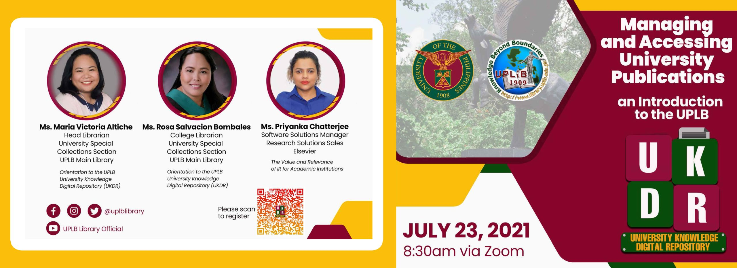 Webinar and Launching of the UPLB University Knowledge Digital Repository