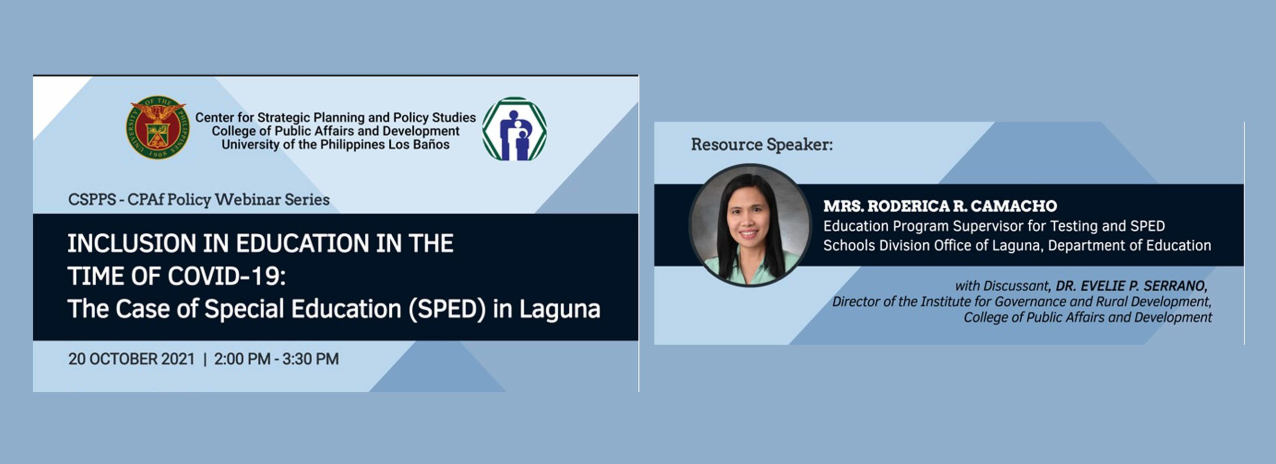 Inclusion in Education in the time of COVID-19: The case of Special Education (SPED) in Laguna